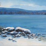 Mont Mégantic vu du lac