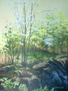 Cerisier de Pensylvanieacrylique sur toile18 po. lar. X 24 po. h. 2013