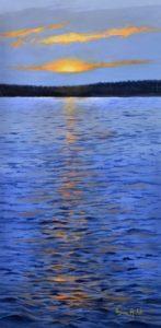 L'eau et le soleil, sources de vieacrylique sur toile galerie15 po. lar. X 30 po. h., 2014